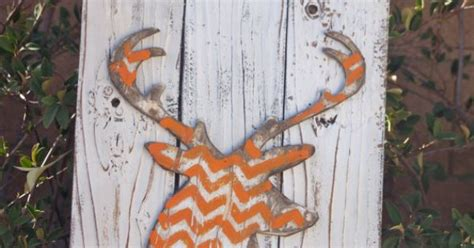 chevron deer sign vintage marquee lighted wood by
