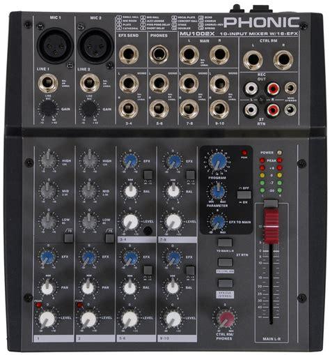Mixer Audio Phonic phonic mu1002x audio mixer with effect processor