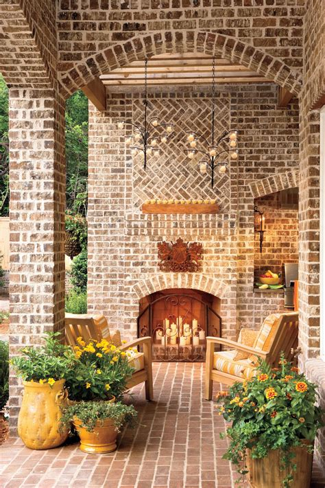 Outdoor Living Room With Fireplace fall s best outdoor rooms southern living