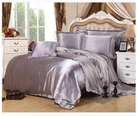 Silver King Size Bedding Sets Silver Bedding Sets King Size Grey Duvet Cover Fitted Silk Satin Bed Sheet