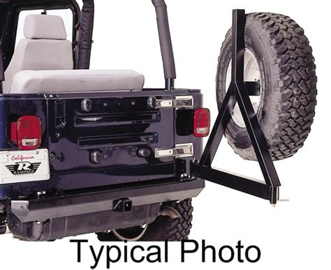 swing away spare tire carrier rage rock rage rear bumper for jeep swing away spare