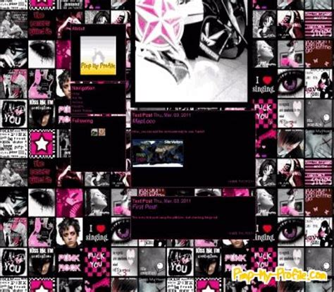 themes tumblr rock punk rock 101 tumblr themes pimp my profile com