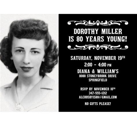 A Vintage  Ee  Birthday Ee   Milestone Photo Invitation