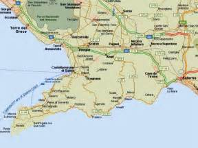 map of coast map italy amalfi coast