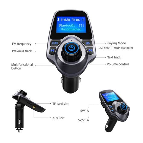 Harga Car Kit t16 bluetooth car kit mp3 player fm transmitter with usb