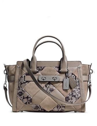 Coach F57510 Tote Snake Embossed Patchwork coach swagger in patchwork embossed leather