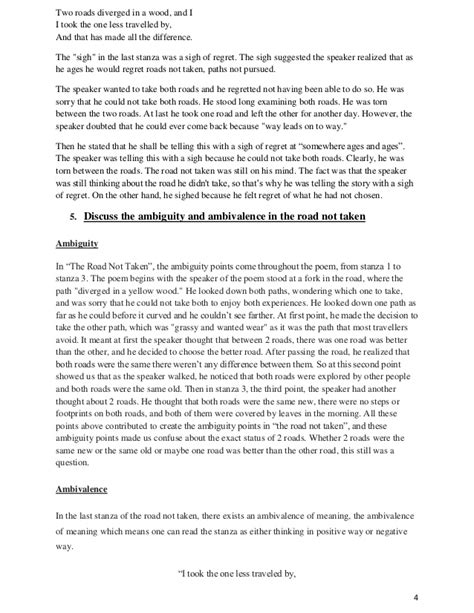 Road Not Taken Essay by College Essays College Application Essays The Road Not Taken Analysis Essay