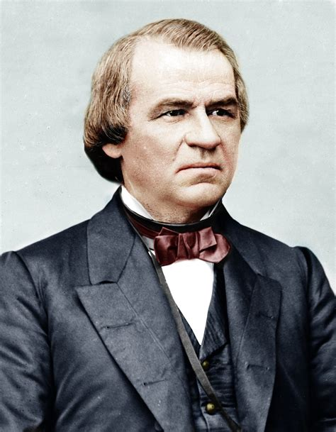 johnson in color colorized andrew johnson circa 1870 1880 by yolodziej on