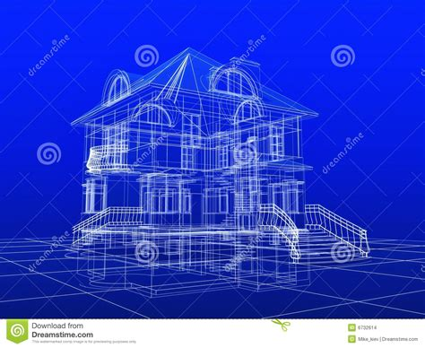 blueprint for houses 3d house blueprint stock images image 6732614