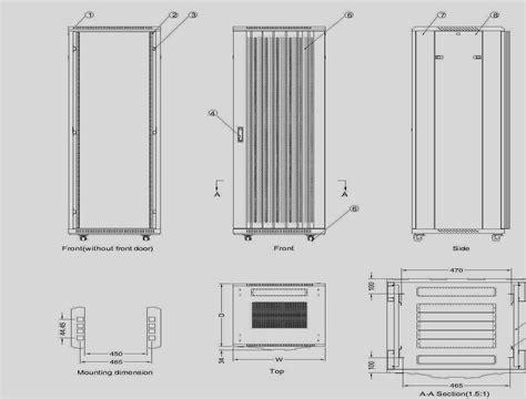 Rack Cabinet Dimensions by C 42u 42u Rack Cabinet