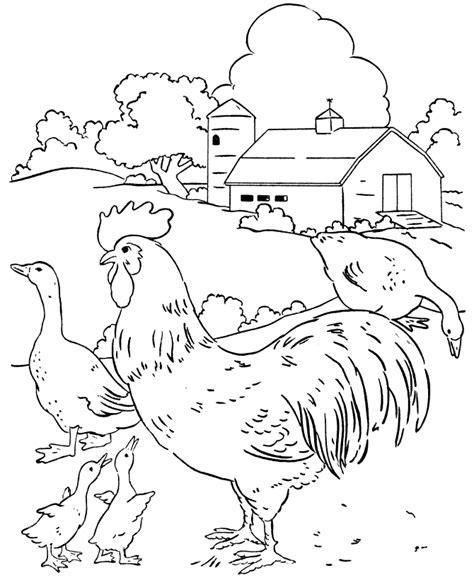 farm scene coloring page az coloring pages
