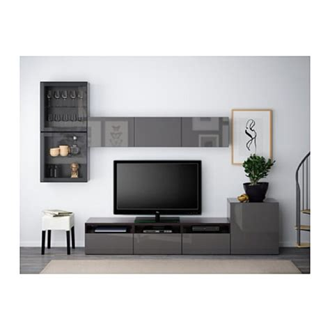 Ikea Living Room Sets Besta Series Tv Storage Combination Of Glass Doors Hanviken