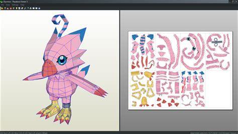 Digimon Papercraft - top biyomon from digimon wallpapers