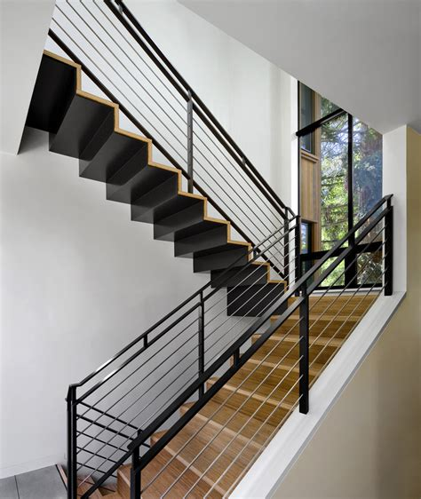 outdoor stair railing ideas Staircase Contemporary with bamboo Blomberg Aluminum window