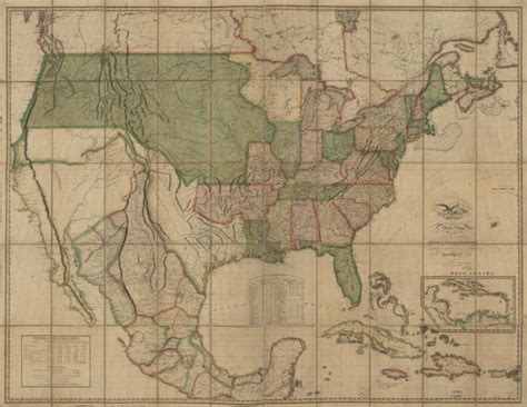 map of the united states in 1820 1820 map of the united states beautiful by gallerylf on etsy