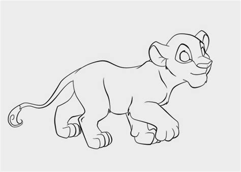 coloring page lion cub lioncub free colouring pages