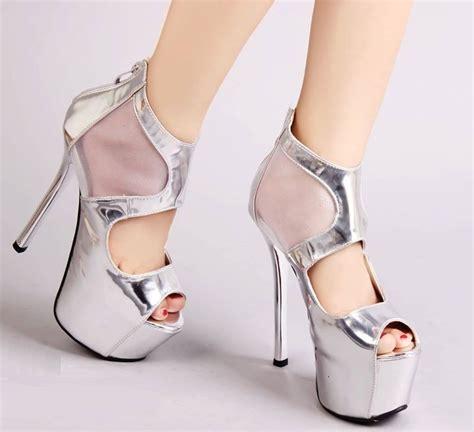 High Heels Krd14 Silver Murah Jual High Heels Import Silver Sepatu Hak Tinggi Silver