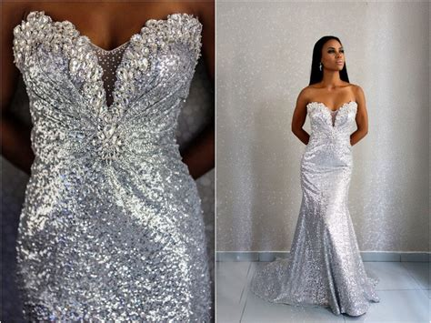 Sweetheart Silver Sequins Evening Dresses 2017 Mermaid