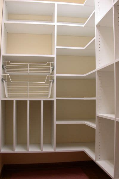 Building Pantry Shelves by Kitchen Pantry Makeover Diy Installing Wood Wrap Around Shelving To Replace Wire Shelves