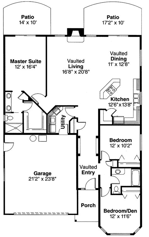 bungalow blueprints home plans bungalow house plans 3 bedroom 2 bathroom