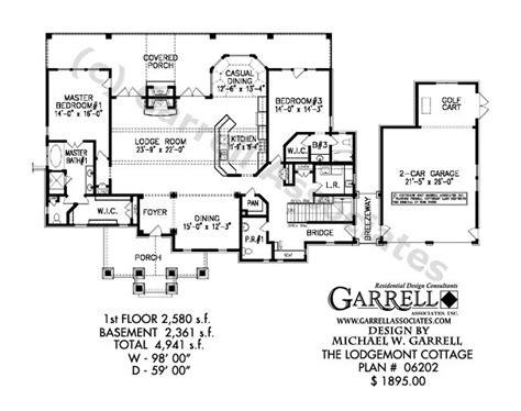 daylight basement floor plans lodgemont cottage house plan 06202 1st floor plan dual master house plans daylight basement
