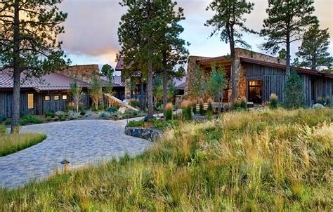 Mountain Hearth And Patio Evergreen Eberl Residence Organic Fusion Of Rustic And