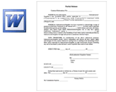 partial lien waiver template pin lien release form pdf on