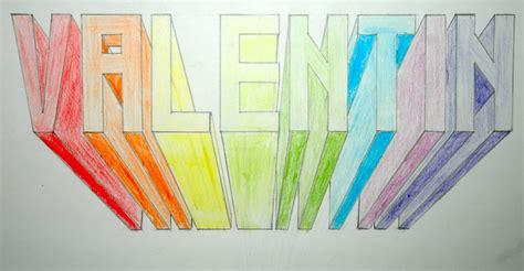 lettere in prospettiva arte in classe nome in prospettiva centrale