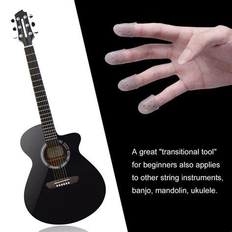 Alat Bantu Agar Jari Tidak Teriris Saat Memotong Di Dapur pelindung jari untuk bermain gitar fingertip protector guitar 1pcs blue jakartanotebook