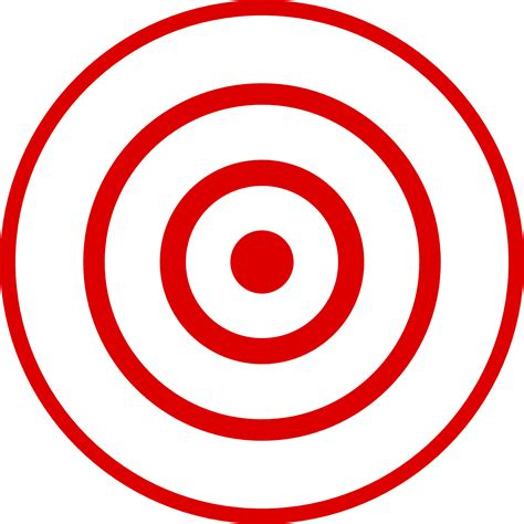 printable targets red bullseye target clipart clipart suggest