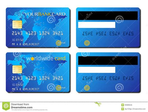 Credit Card Template Front And Back credit card concept royalty free stock photo image 30086645