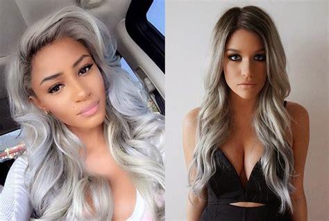 grandma hair style for 2015 ombre hair incr 237 veis modelos platinados cacheados