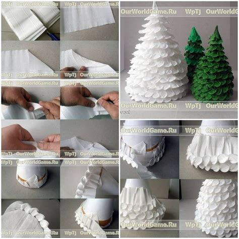 step by step how to make christmas decor how to make corrugated paper tree step by step diy tutorial thumb how
