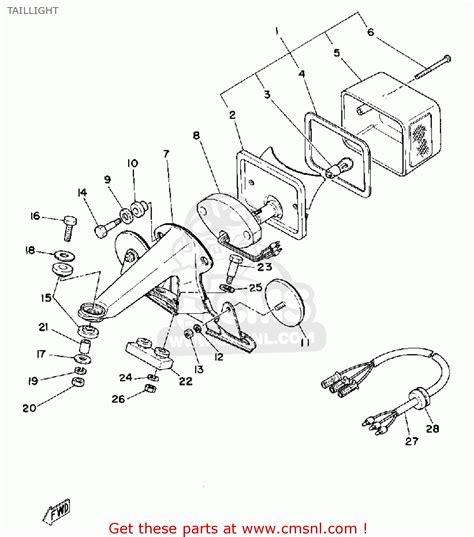 yamaha xt 500 parts wiring diagram and fuse box