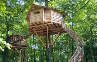 cabane spa dans les arbres proche de