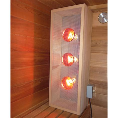 infrared sauna light box vertical emits near middle and