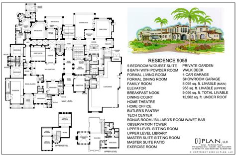10 000 square foot house plans 10 000 sq ft home floor plans escortsea