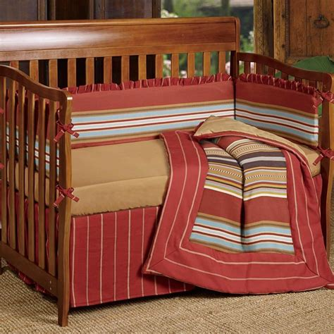Cabin Crib Bedding by Lodge Stripe Crib Bedding Collection Cabin Place