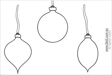 Printable Ornament Shapes This Template Shows Christmas Bauble Blank To Decorate And Colour Template Of Ornament