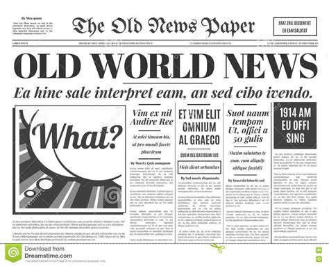 layout newspaper pdf old newspaper design vector template stock vector