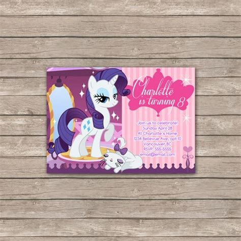 printable birthday card my little pony 7 best images of my little pony printable birthday card