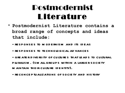 themes modernism literature postmodern presentation