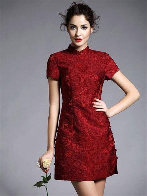 Mutan Cheongsam Dress Cina Imlek Merah tilan baju imlek wanita yang cantik nan mempesona