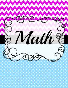 Math Binder Cover Templates shutters scribbles day limited time freebie