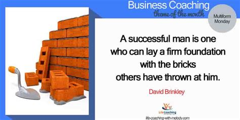 Inner Melody Brick business using criticism to strengthen your foundation coaching with melody