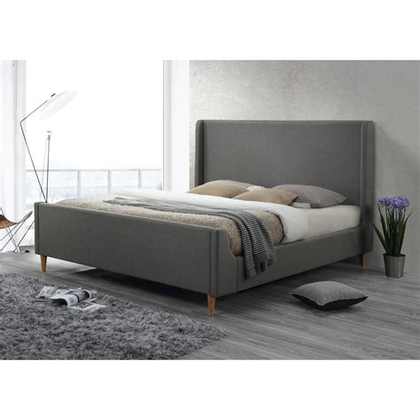 Gray Platform Bed Hillsdale Furniture Silverton Brushed Silver Sleigh Bed 1298bfr The Home Depot