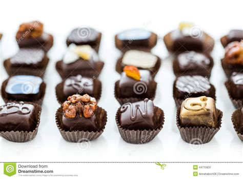 Gourmet Handmade Chocolates - truffles stock photo image 44715631