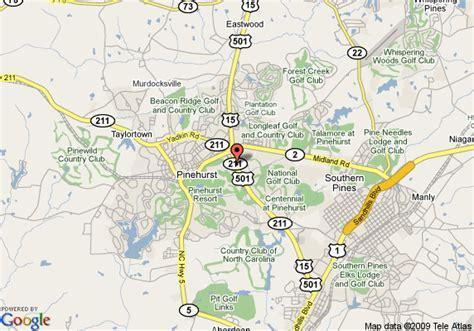 map of comfort inn pinehurst pinehurst