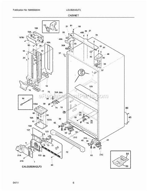 frigidaire refrigerator parts diagram frigidaire lgub2642lf3 parts list and diagram