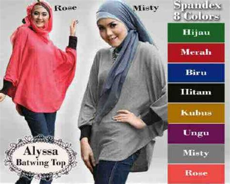 Ashana Batwing Top Atasan Blouse Muslim Wanita blouse casual feminim alyssa batwing atasan wanita
